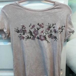 Light Pink Embroidered American Eagle Tee